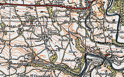 Old map of Norris Green in 1919