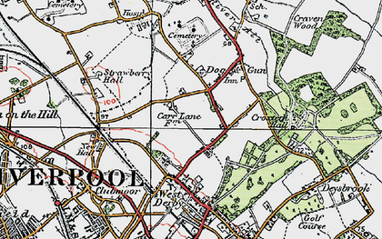 Old map of Norris Green in 1923