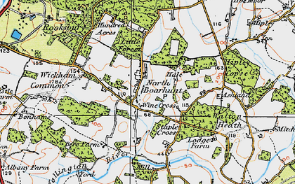 Old map of North Boarhunt in 1919