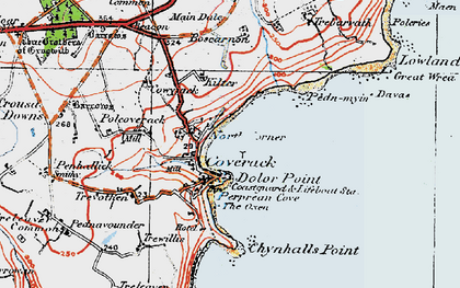 Old map of North Corner in 1919