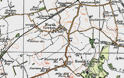 Old map of Atley Hill in 1925