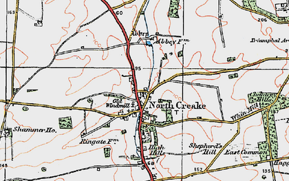 Old map of North Creake in 1921