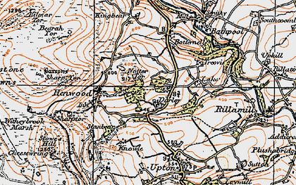 Old map of North Darley in 1919