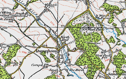 Old map of West Park in 1919