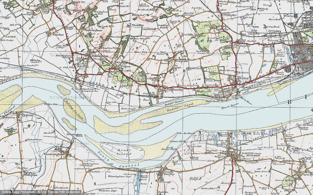 Old Map of North Ferriby, 1924 in 1924