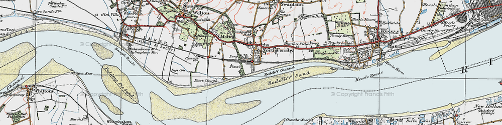 Old map of North Ferriby in 1924