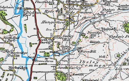 Old map of North Gorley in 1919