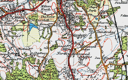 Old map of North Holmwood in 1920