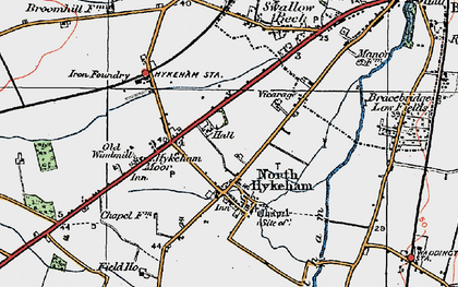 Old map of North Hykeham in 1923