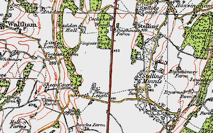 Old map of Yockletts Banks in 1920