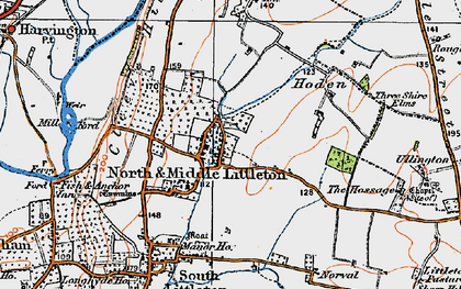 Old map of North Littleton in 1919