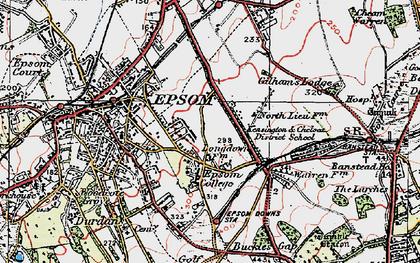 Old map of Drift Bridge in 1920