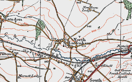 Old map of North Luffenham in 1922
