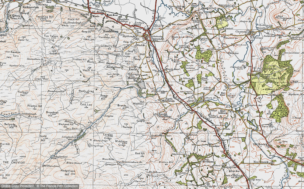 Old Map of North Middleton, 1926 in 1926