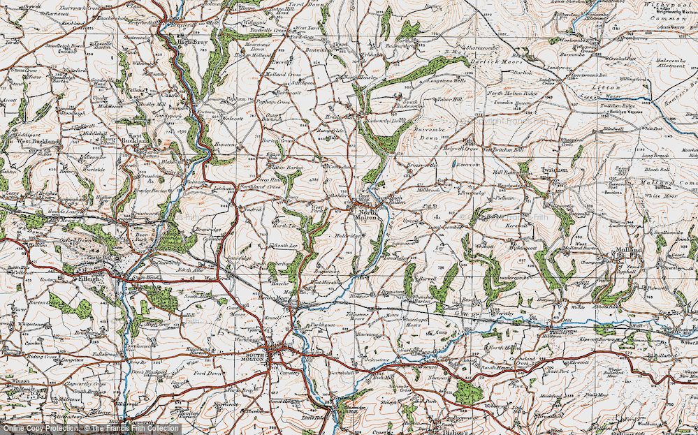 Old Map of North Molton, 1919 in 1919