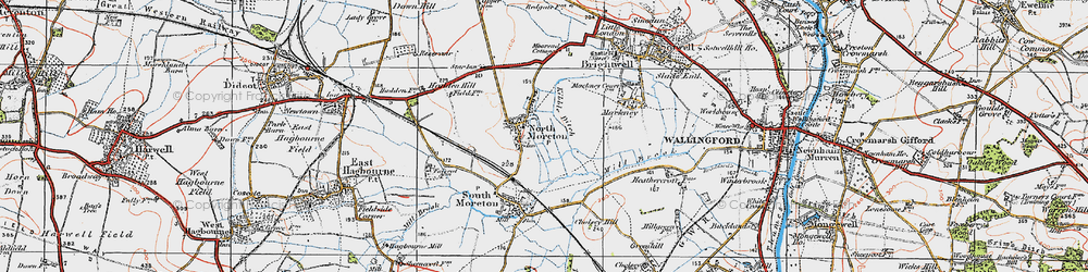 Old map of North Moreton in 1919
