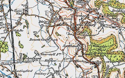 Old map of North Nibley in 1919