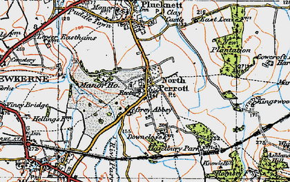 Old map of North Perrott in 1919