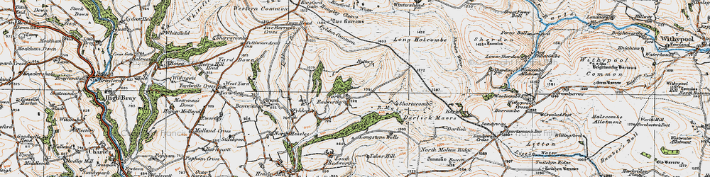 Old map of Wester Emmetts in 1919