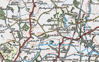 Old map of Lighthey in 1923