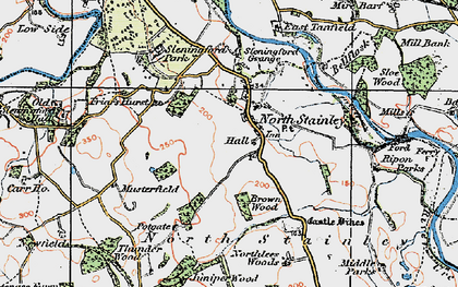 Old map of Lightwater Valley in 1925