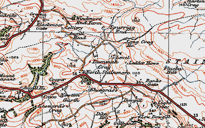 Old map of Windmore Green in 1925