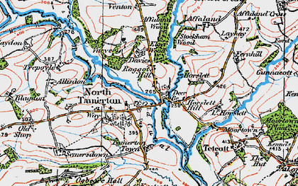 Old map of Affaland Wood in 1919