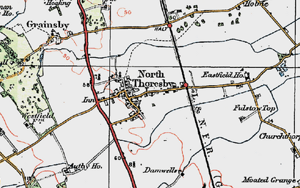 Old map of North Thoresby in 1923