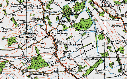 Old map of Ash Barton in 1919