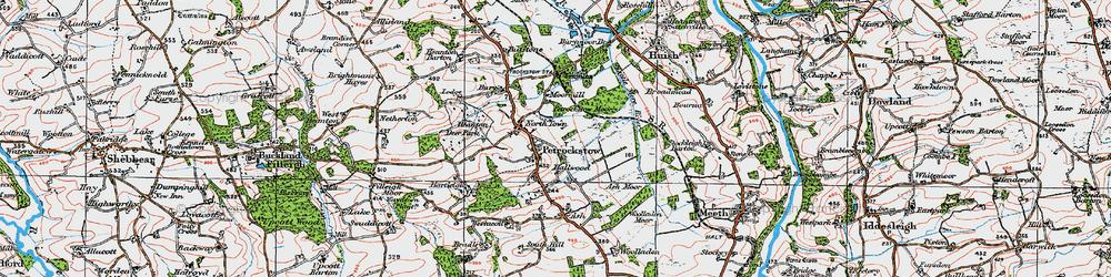 Old map of Westacott in 1919