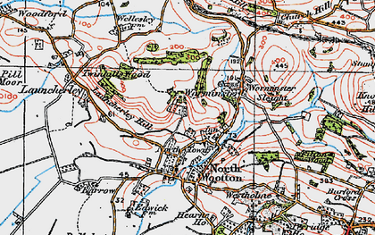 Old map of Launcherley Hill in 1919