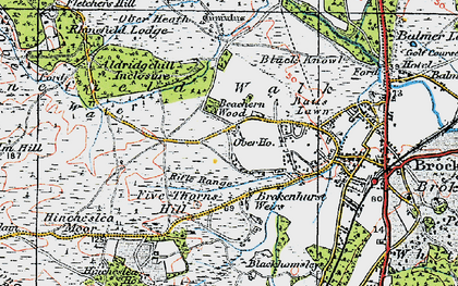 Old map of Aldridgehill Inclosure in 1919