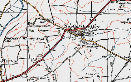 Old map of Wheatley Field in 1923