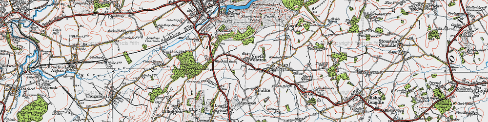 Old map of Westhill Lodge in 1919