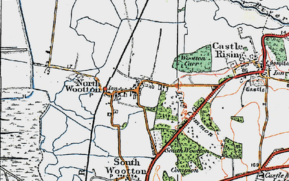 Old map of Wooton Marsh in 1922