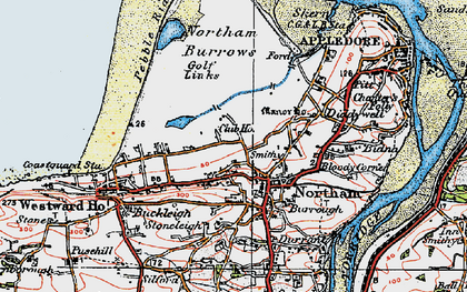 Old map of Northam in 1919