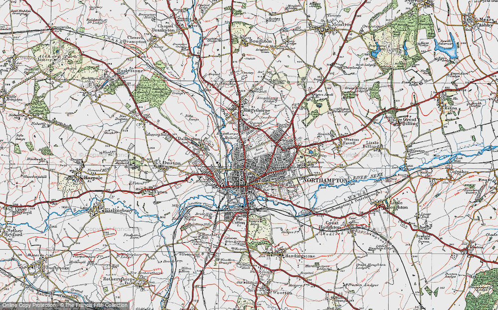 Old Map of Northampton, 1919 in 1919