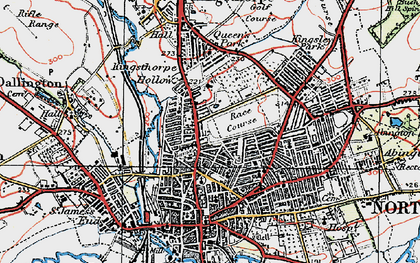 Old map of Northampton in 1919