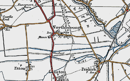 Old map of Northborough in 1922