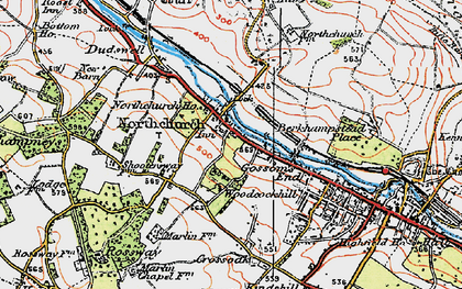 Old map of Northchurch in 1920