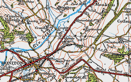 Old map of Langford Br in 1919