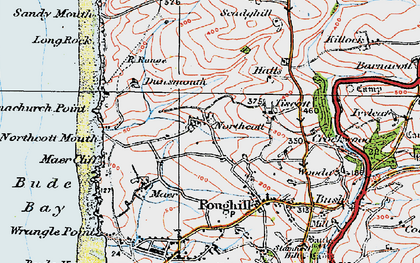 Old map of Northcott in 1919