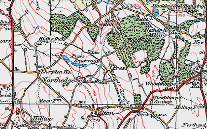 Old map of Northedge in 1923