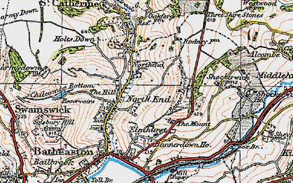 Old map of Banner Down in 1919