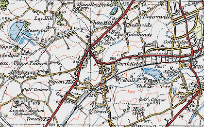 Old map of Northfield in 1921