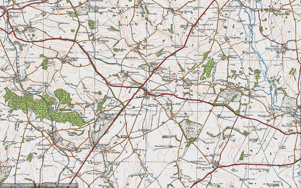 Old Map of Northleach, 1919 in 1919