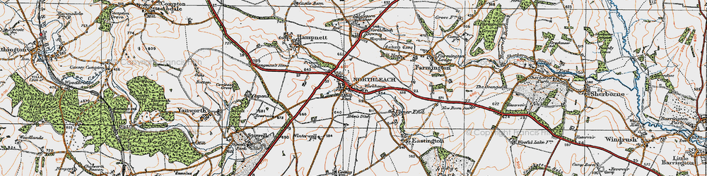 Old map of Northleach in 1919