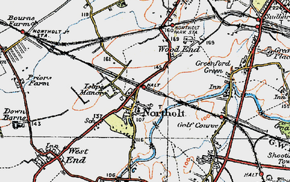 Old map of Northolt in 1920