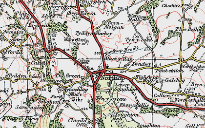 Old map of Northop in 1924