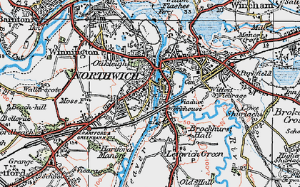 Old map of Northwich in 1923